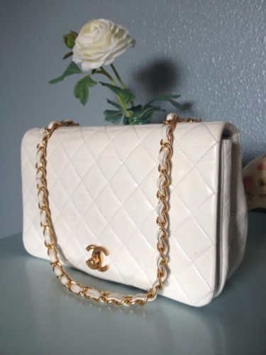 6720ce0a8849 fleeknsleek.com Amazing Authentic Chanel 2.55 Cream White Lambskin Leather  Flap Bag Handbag #chanel #fashion #desinger #boutique