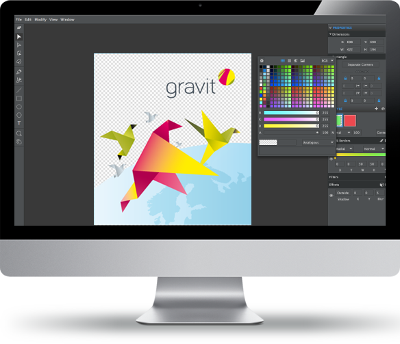 Gravit, the new and fresh thinking open source design tool