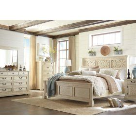 Best Bolanburg Antique White 3 Piece Bed Set King Bedroom 640 x 480