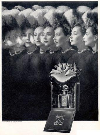 Lilly Daché - Parfum 'Dashing' - Publicité Vintage - 1945