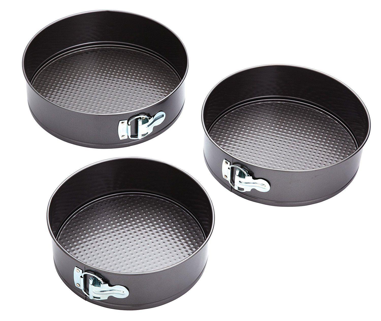 Kitchencraft nonstick springform cake tins set of 3