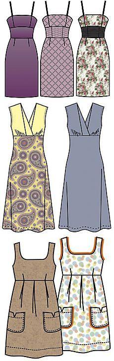 Выкройки платьев - Бесплатные выкройки для шитья одежды. Porrivan