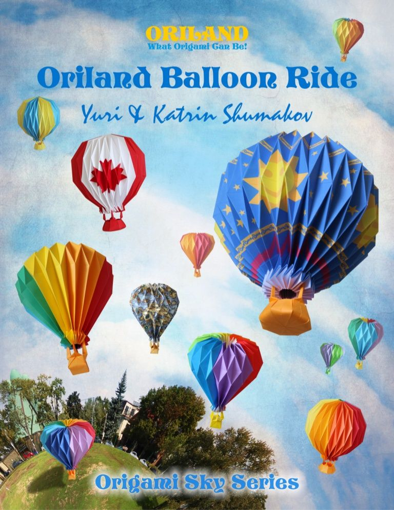 Origami Hot Air Balloon Insturctions Diy Crafts Pinterest