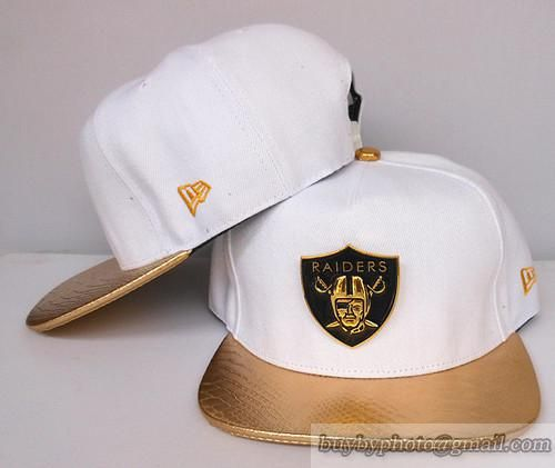 bc9d993f Oakland Raiders Snapback Hats White/Golden | Oakland Raiders Hats ...