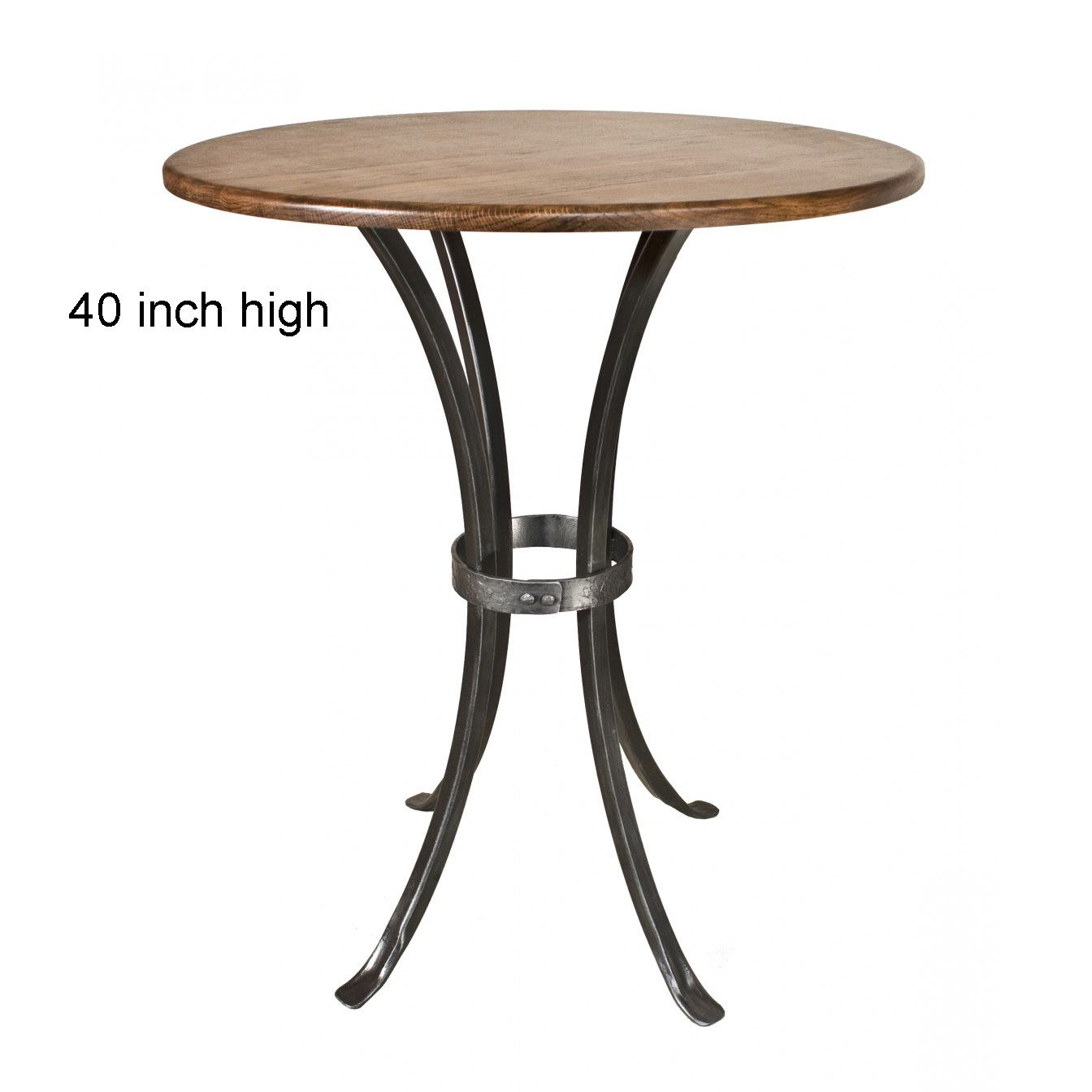 Wrought Iron Bar Table Montage Bar Height Table 42in Round Top