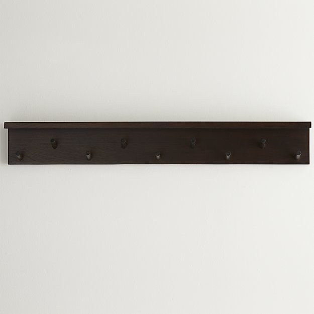 400400 W X 40400 Deep Crate And Barrel Andes Wall Mounted Coat Rack Custom Crate And Barrel Wall Mounted Coat Rack