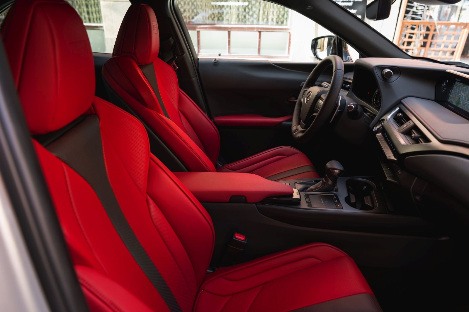 The Flare Red Interior Of The 2019 Lexus Ux200 Fsport Excites In The True Tradition Of The F Mark Red Interiors My Dream Car Lexus Cars