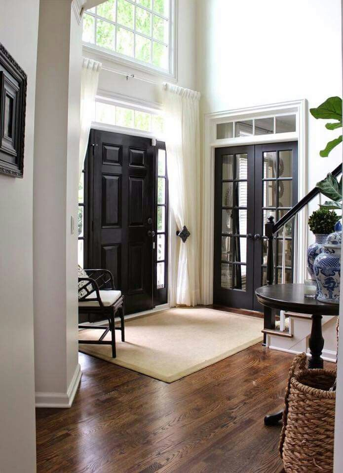 Entryway Foyer Landing Zone Entry Table Seating Window French