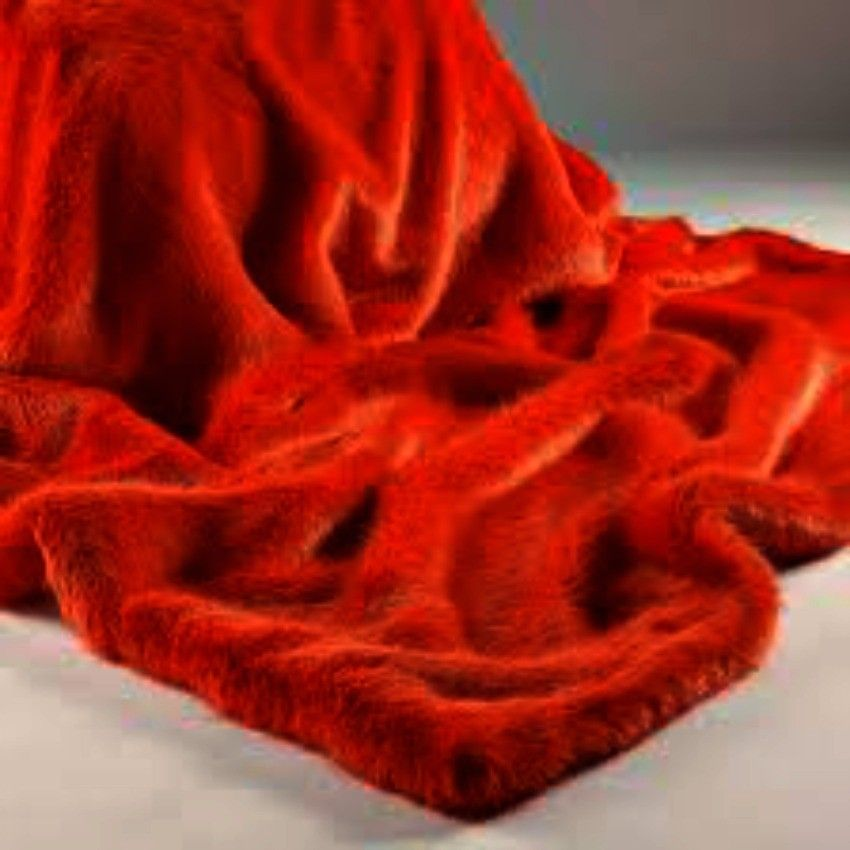 London Flame Red Faux Fur Throw   To Use On Sofas, Beds, Settees,