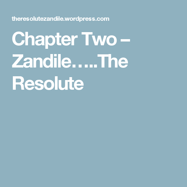 Chapter Two – Zandile…..The Resolute