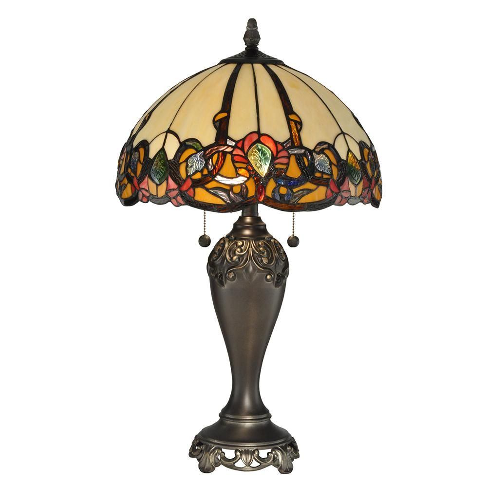 Dale Tiffany 27 In Northlake Antique Bronze Table Lamp Tt90235 Bronze Table Lamp Tiffany Style Lamp Stained Glass Lamps
