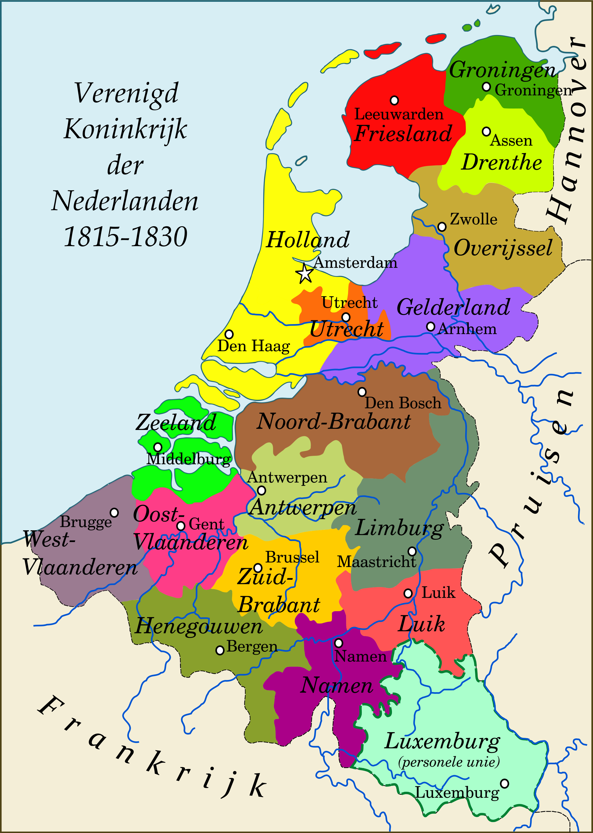 United Kingdom of the Netherlands 18151830 Ruled by King Willem