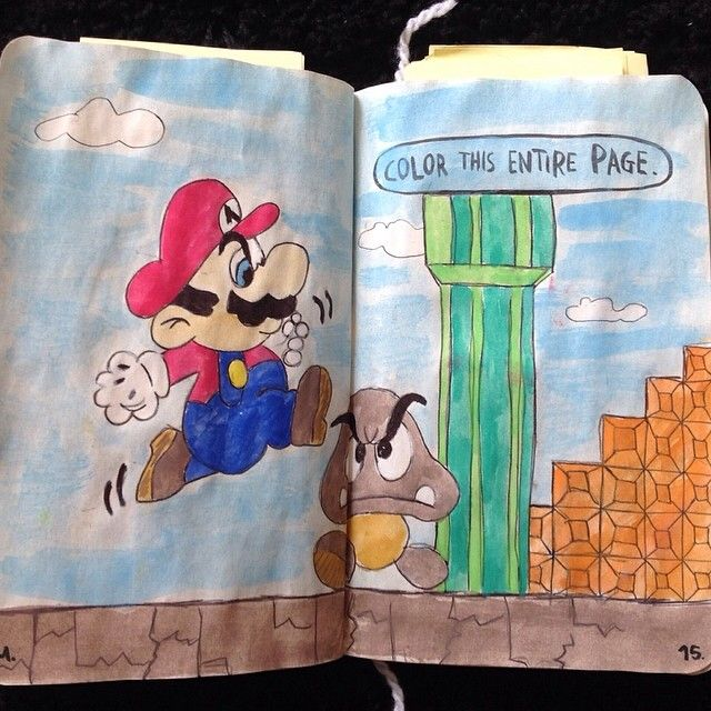 Color Journal Ideas : Wreck this journal color entire page my keri smith