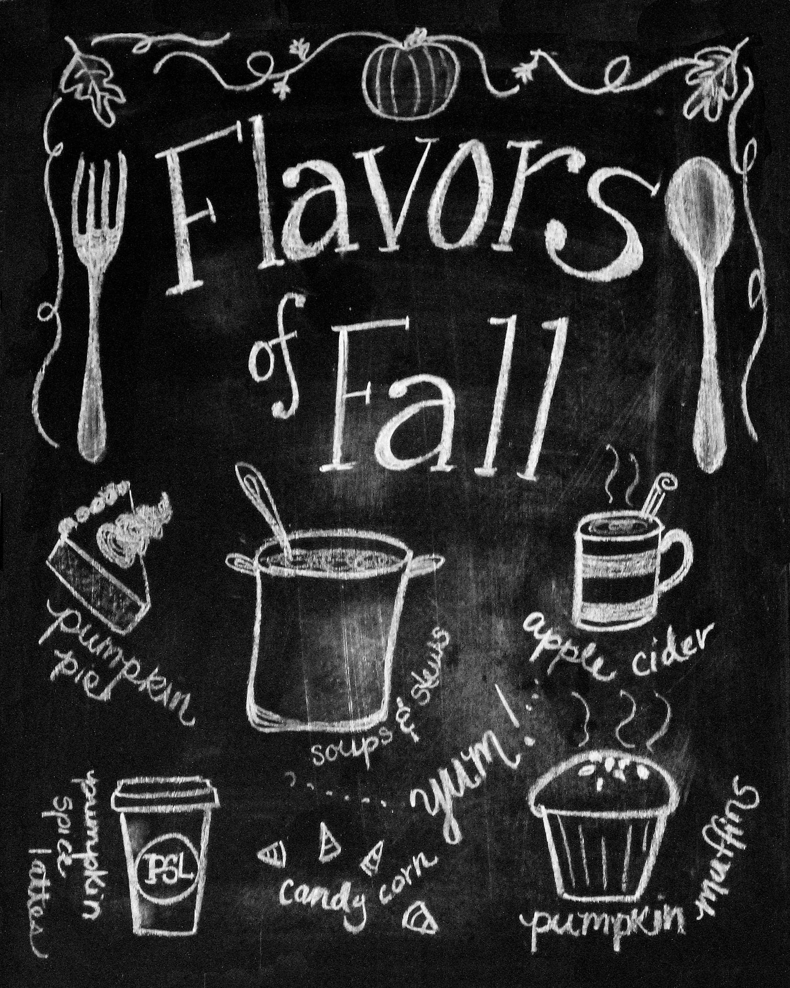 autumn chalkboard printables google search things for my wall