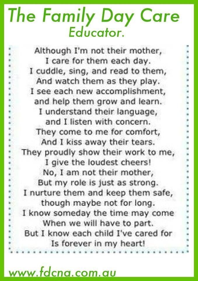 Teacher Poem Thank You Poems For Teachers Teacher Poems Family Day Care