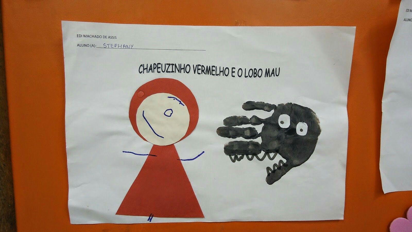 Imagem De Atividades Chapeuzinho Vermelho Por Maiara Candido Em