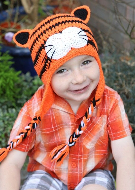 Crochet tiger hat | crafts | Pinterest