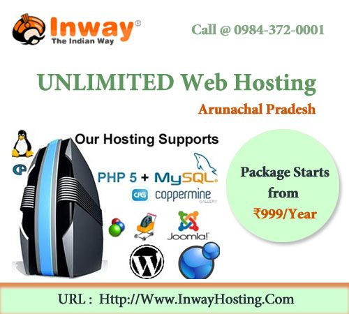 Arunachal Pradesh Web Hosting - Inway offers Web Hosting & Domain Registration Service all over India with FREE Helpdesk Support.http://inwayhosting.com/arunachal-pradesh-web-hosting.html