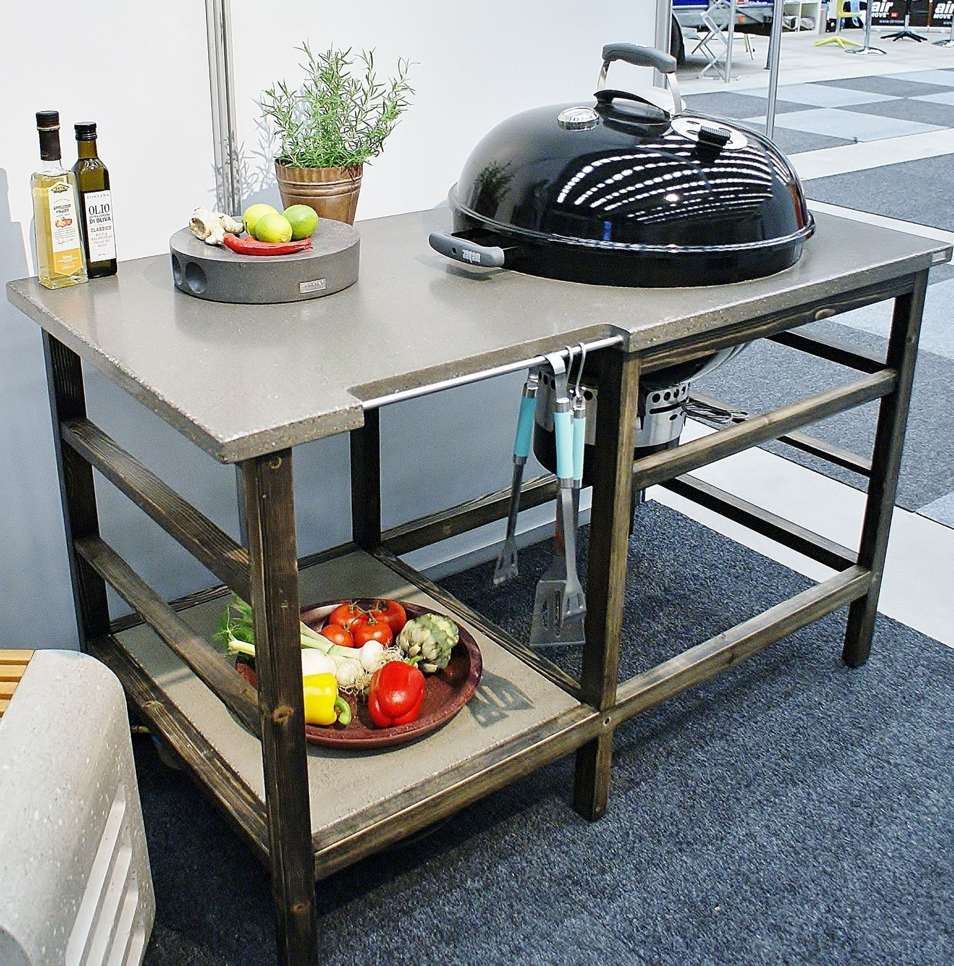 grillbord utegrill betong klotgrill weber grill. Black Bedroom Furniture Sets. Home Design Ideas