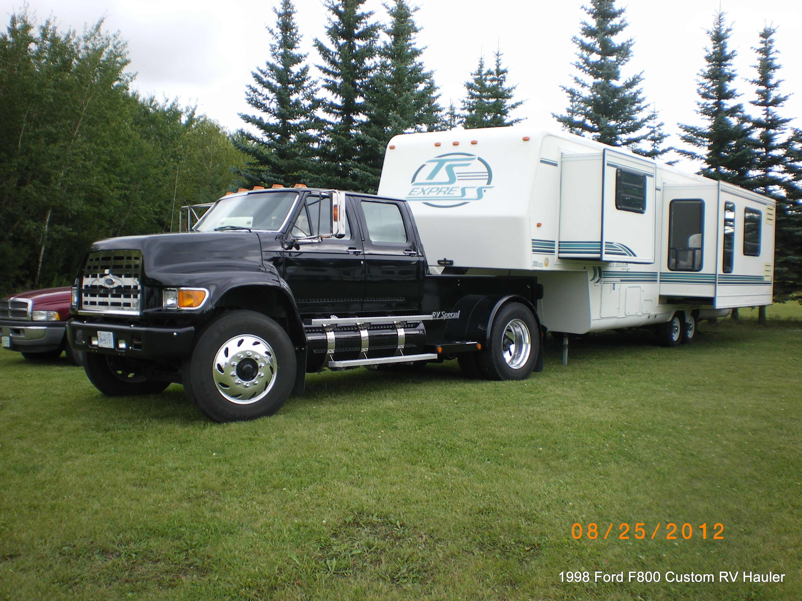 1998 ford f800 pu rv hauler 1998 travel supreme custom