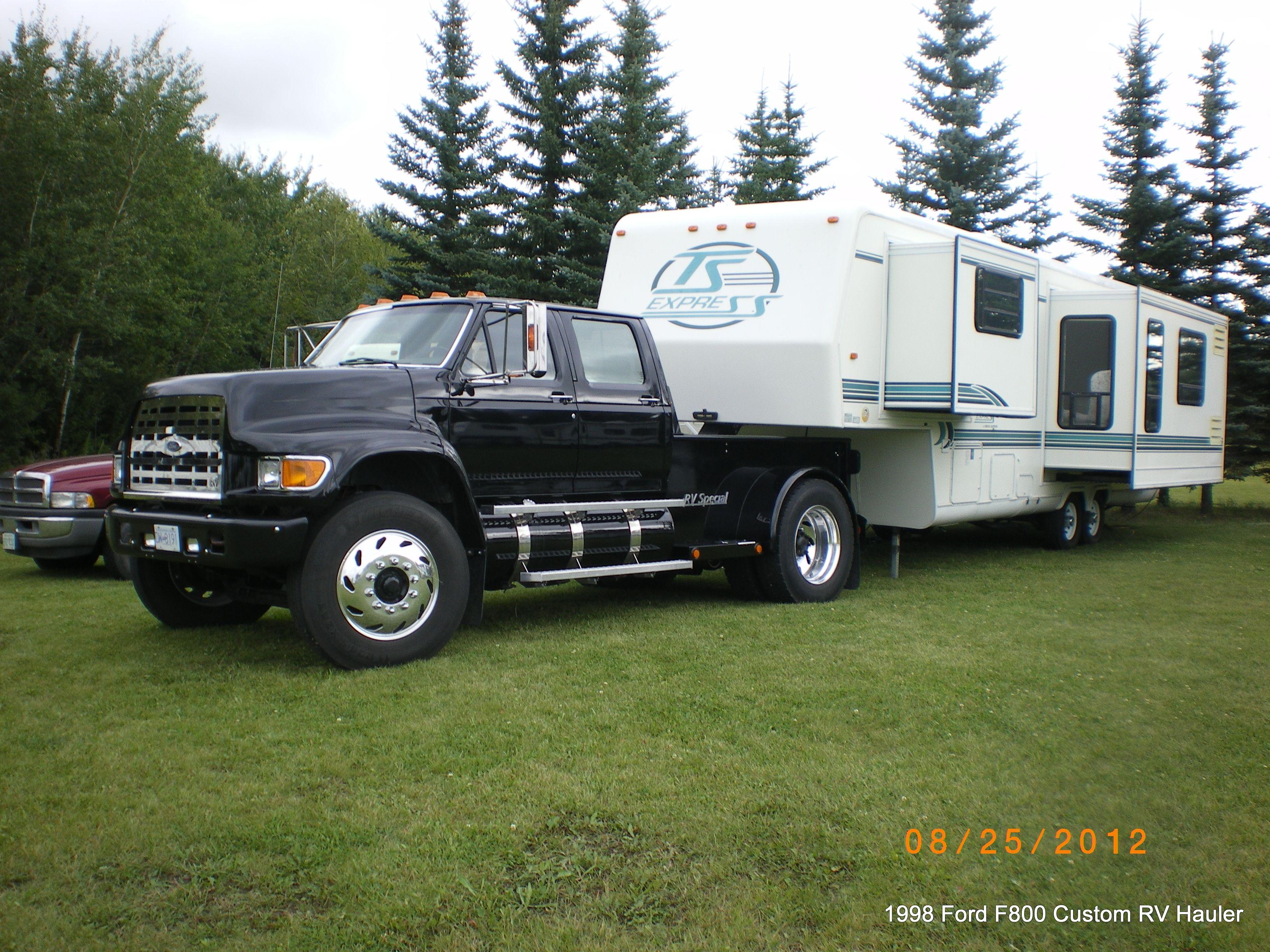 1998 ford f800 pu rv hauler 1998 travel supreme