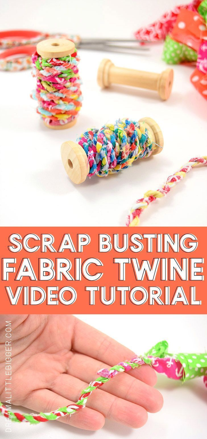 Learn how to turn your scrap material into simple and adorable fabric twine. Make something cute and bust your craft stash at the same time!    If you're like me you live and breathe style. You are frequently influenced with so many new types racing by your intellect, so many you can't seem to get them all down swift ample on the speed they arrive. You consistently aspiration in the day your fashion... #Adorable #Learn #material #scrap #simple #Turn #upcycled clothing for kids fabric scraps #scrapfabric