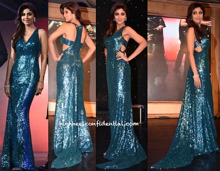 Image result for shilpa shetty evening gown