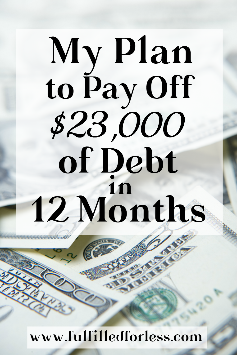 Our Plan To Pay Off 23 000 Of Debt In Only One Year Paying Off Credit Cards Credit Card Payoff Plan Credit Card Debt Payoff
