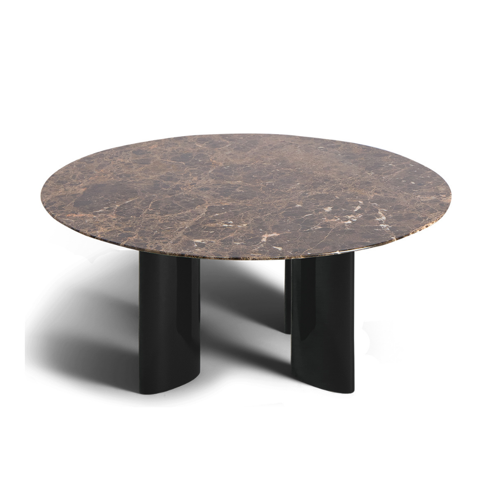 Carlotta Coffee Table Brown Marble Top And Black Legs Coffee Table Round Coffee Table Coffee Table Wood [ 1000 x 1000 Pixel ]