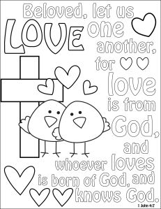 children church coloring pages coloring sheet love | Coloring pages (for grown ups and kids  children church coloring pages