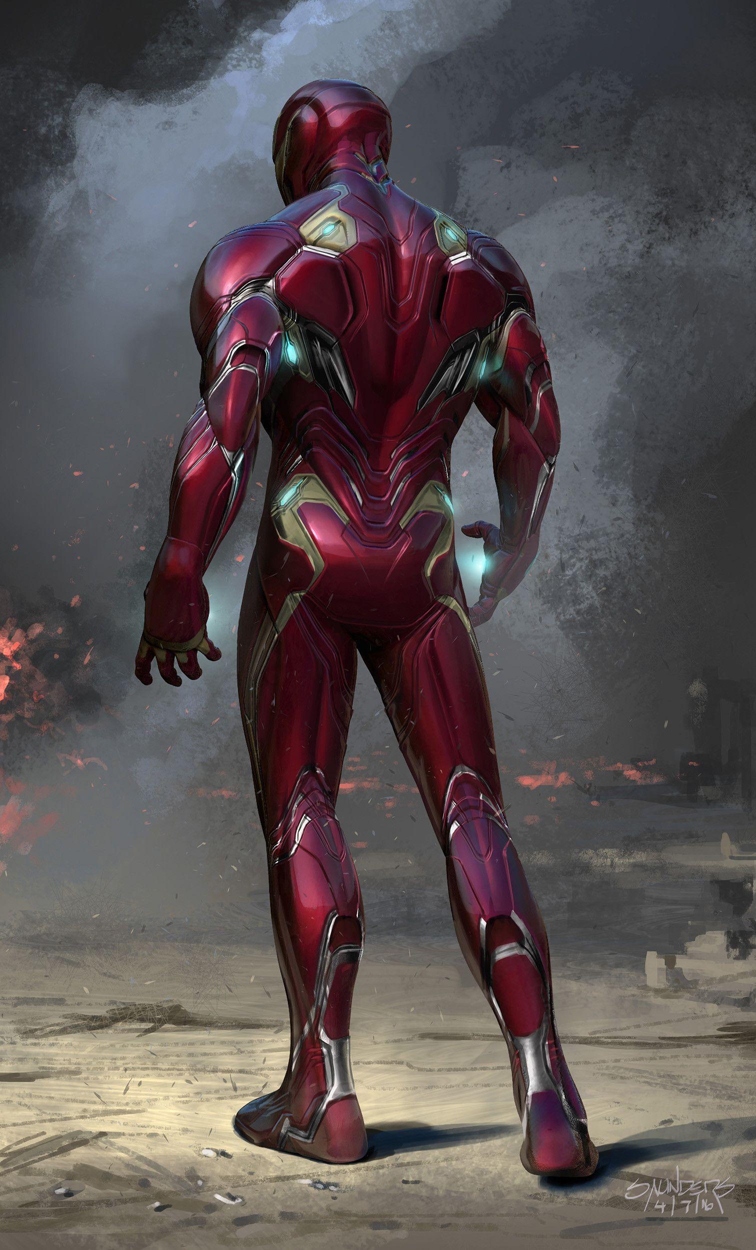 Artstation Avengers Infinity War 2016 Iron Man Mk 50 Final Front View Phil Saunders Iron Man Avengers Iron Man Wallpaper Iron Man Armor