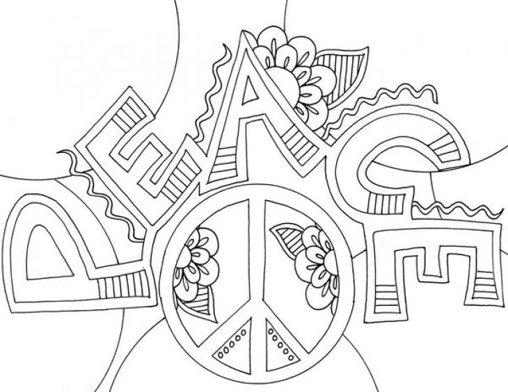 preschool doodle art coloring page of peace sign | fun coloring ... - Peace Sign Mandala Coloring Pages