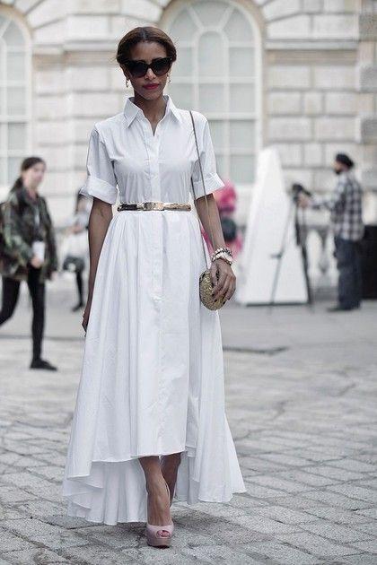 93652eb73368be2 Платье-рубашка на улицах мира. 45 лучших фото | Одежда | Платья ...