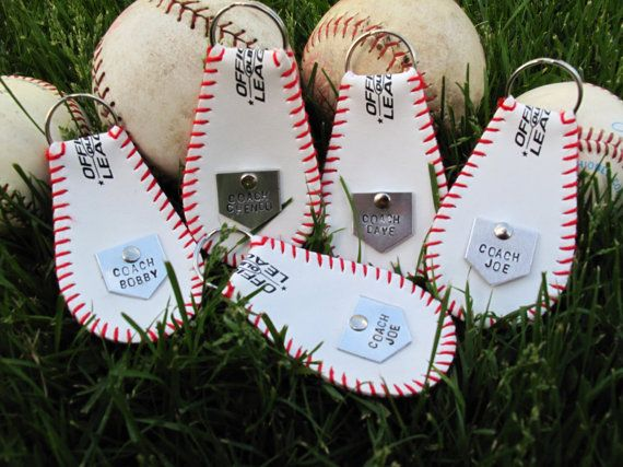 Photo of baseball keychain Personalized baseball Keychain, Class of 2020, LEATHER keychain, team gift for coach gift, Fathers day, personalized gift