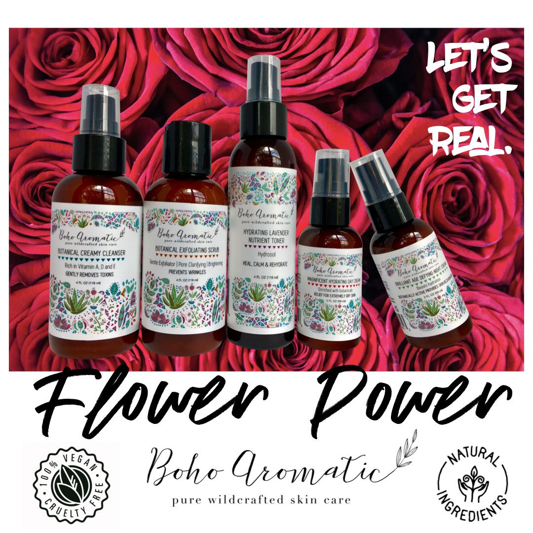 Vegan Plant Based All Natural Organic Skincare From Boho Aromatic Let S Get Real Love Your Face In 2020 Botanics Skin Care Natural Organic Skincare Face Care