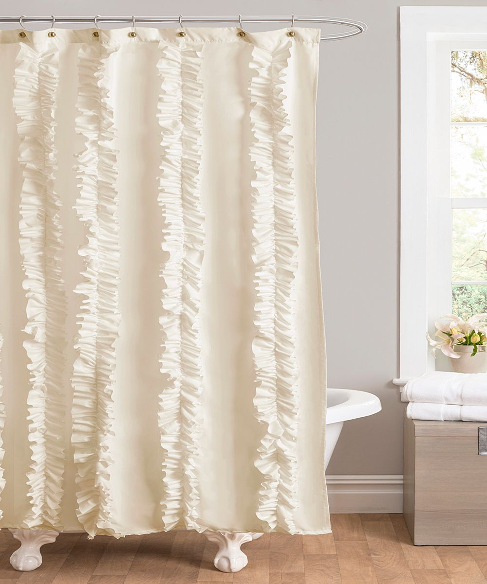 Ivory Belle Shower Curtain Ruffle Shower Curtains Fabric Shower