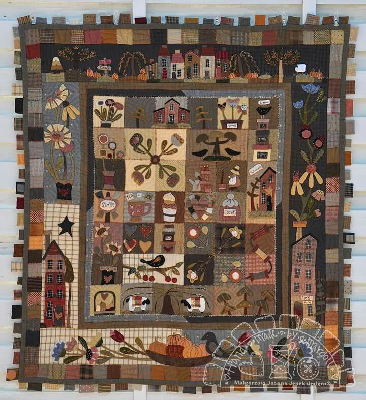 Pin by Jean Middleswarth on Appliqué quilts | Primitive