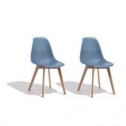 Lot de 2 chaises Chloé gris anthracite - Chaise - Salle à manger et cuisine  - cb39bec77c70