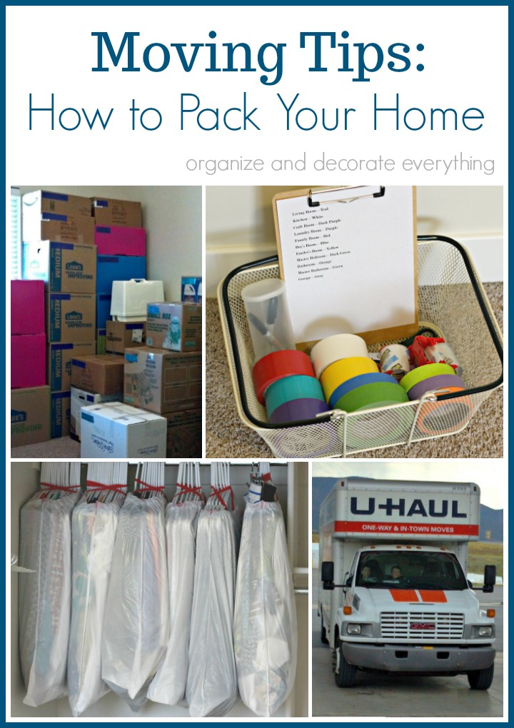 Moving Tips: How to Pack Your Home - Organize and Decorate Everything