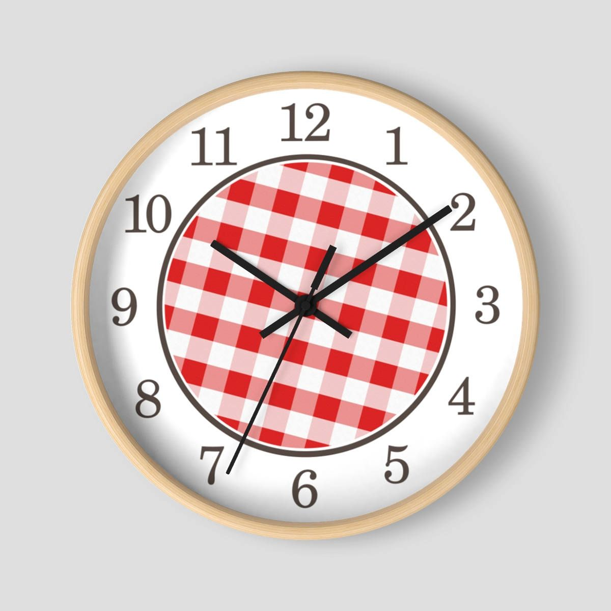 5 Star Review Even Cuter In Person I Love It Marjorie Red Gingham Wall Clock Pattern In Red And White With Wood F In 2020 Wall Clock Clock Best Wall Clocks