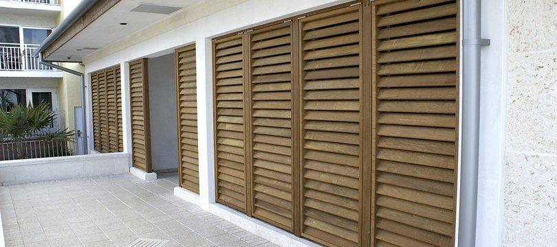 Exterior Wood Louvered Doors