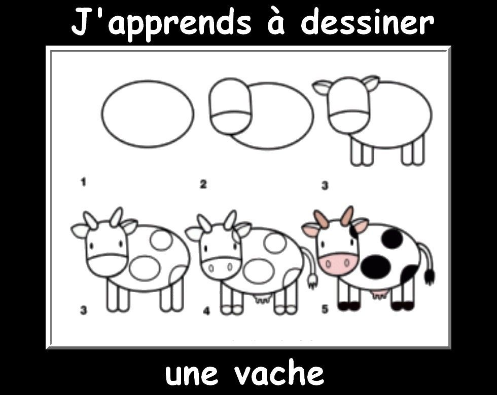 Des fiches j 39 apprends dessiner les animaux dessin easy drawings cute cartoon drawings et - Dessin a dessiner ...