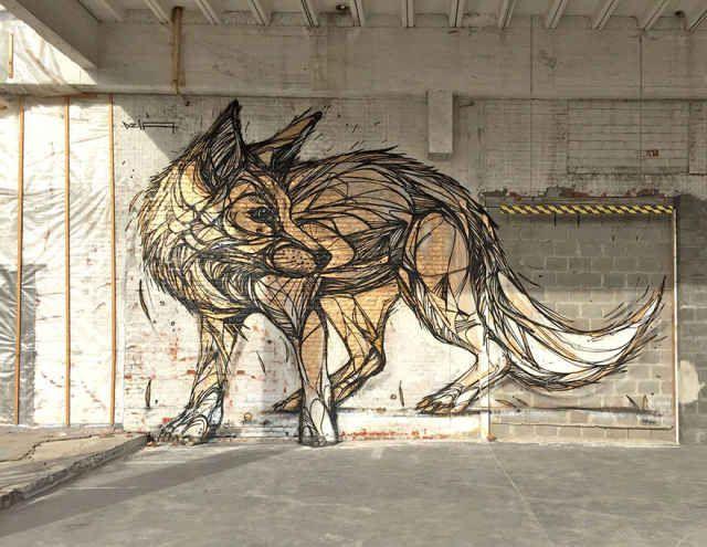 Incredible Geometric Animal Street Art by Dzia - BlazePress