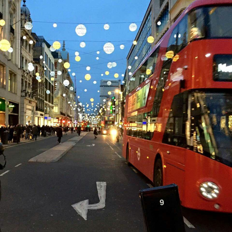Oh my starsl in London while it is decked out for Christmas holiday!