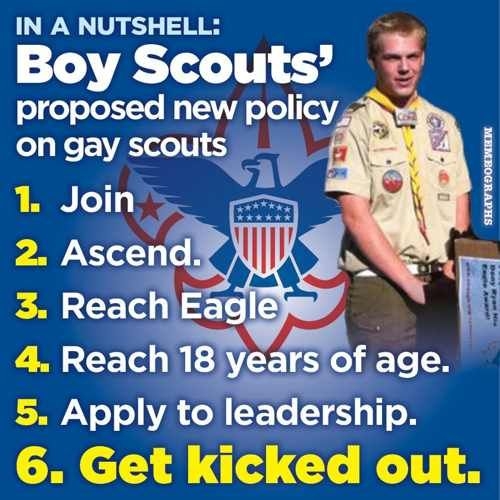 Look: Boy Scouts Say Under 18 And Gay, OK. 18 Or Older And Gay, Possible Pedophile. | The New Civil Rights Movement