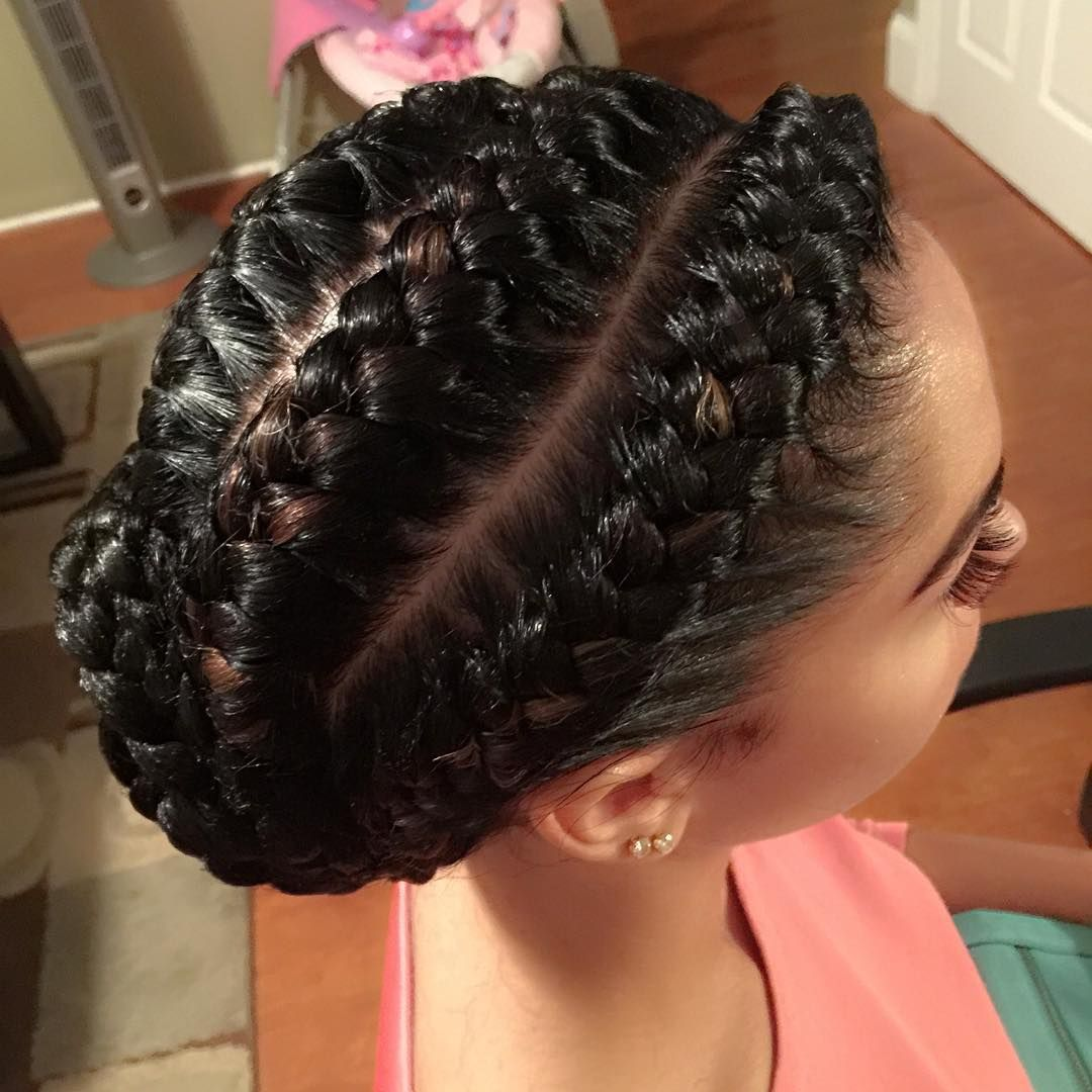 Goddess braids by @mzpriteabraids