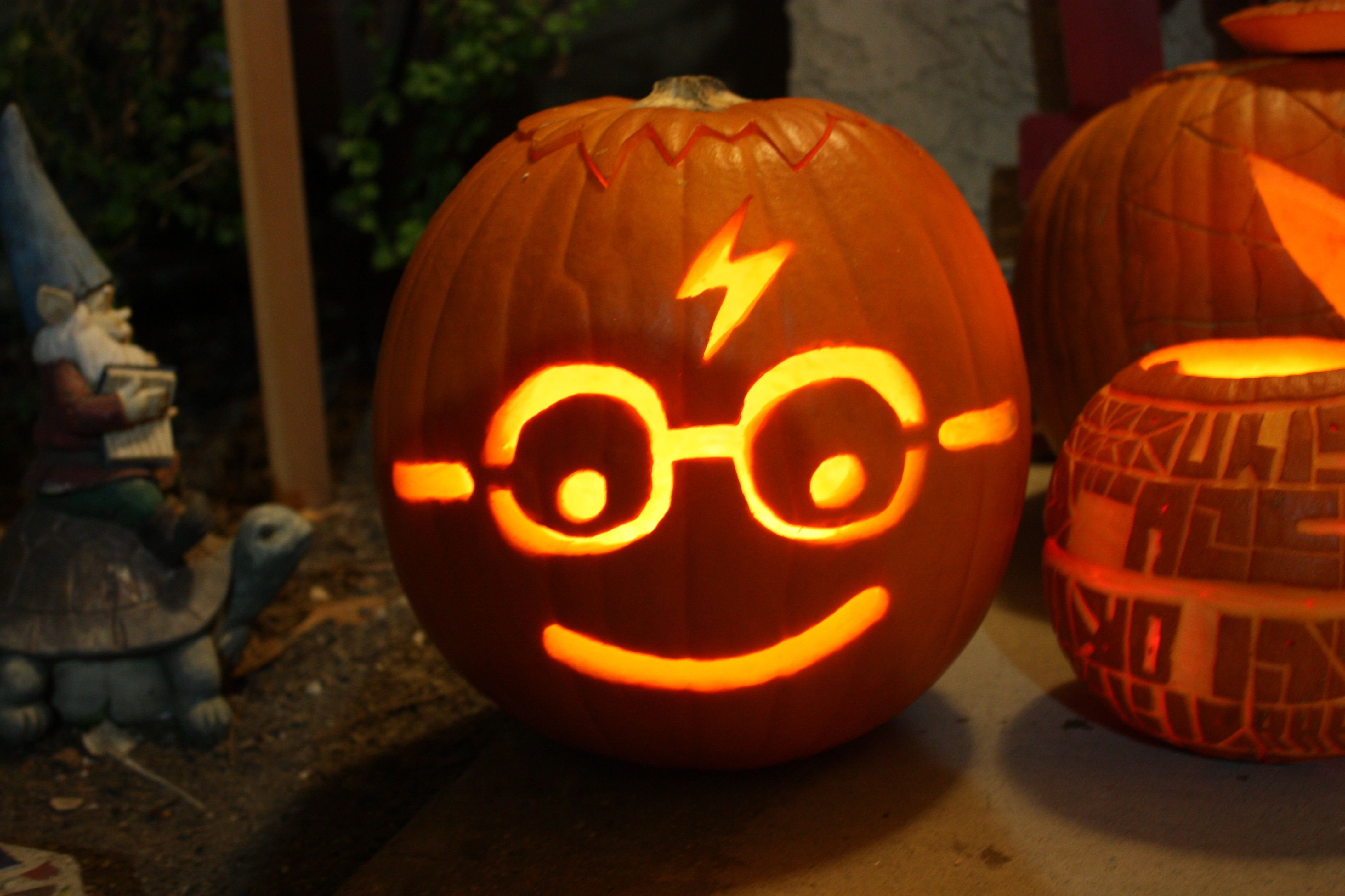 Image result for Easy harry potter pumpkin carving ideas in
