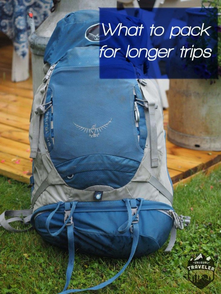 What to pack for longer backpacking trips Backpacking