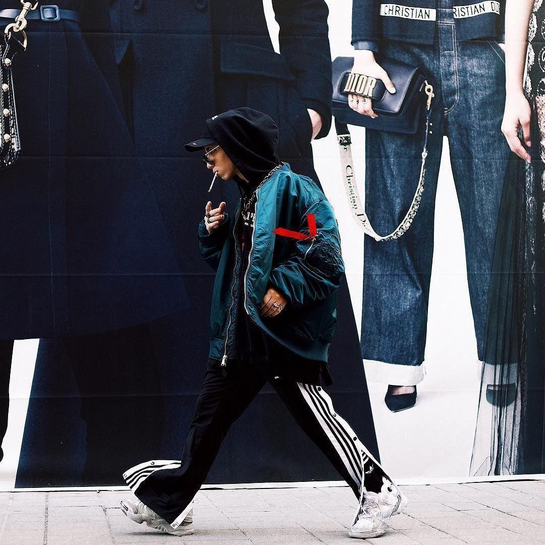 adidas Black Adibreak Popper Track Pants | Urban Outfitters
