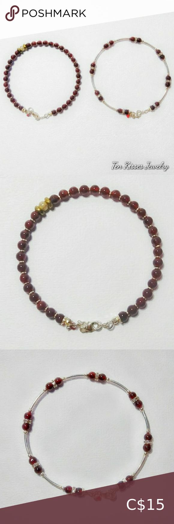 3 for $30 - Garnet Bracelets